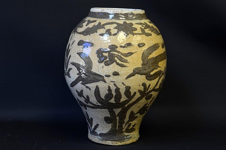 A 17th Century Safavid Baluster Vase