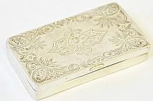 An Engraved Islamic Silver Snuff Box