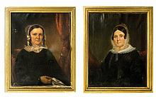 A Lot of Two Framed Oil Paintings of Women