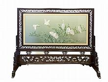 A Chinese Double Faced Embroidered Screen