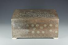 An Indian Inlaid Enamel and Silver Jewelry Box