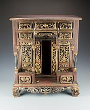 A Gilt Wood Buddhist Altar, 19th Century