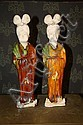 A Pair of Chinese Tang Style Pottery Lady Figures