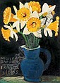 Dick Frizzell Still Life with Daffodils oil on