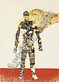 Pat Hanly I Am watercolour on paper, collage and screenprint from Inside the Garden, one of the Barry Lett Gallery Multiple series ( unique)title inscribed, signed and dated 1970; inscribed it is all one