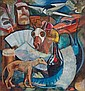 John Weeks Composition with Racehorse and