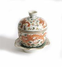 A 19thC Chinese Famille Rose Bowl Set