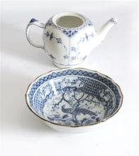 Royal Copenhan Teapot (no Lid) and Chinese Bowl AF