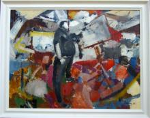 Redway - Artist Self Portrait Oil on Board 1966 50