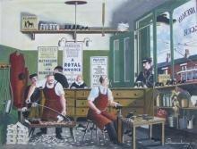 G Mainwaring (1912-2000)  - ''Clog Makers'' Oil on