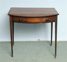 A George III Mahogany Bow Fronted Side Table with