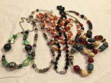 Beaded Necklace Lot. 5 Necklaces