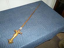 Sword with gemstones in handle