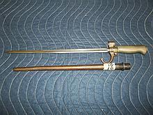 4 sided Spike Bayonet  w/metal sheaf