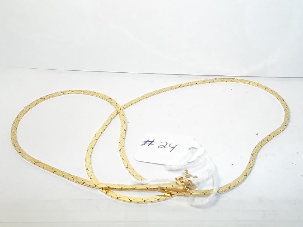 Mens 14K Gold Necklace