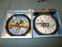 2 Wall Clocks 1 Duck-1 Deer