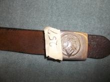 German Belt Buckle and Belt