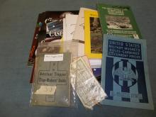 Paper good lot 1903 Trappers Guide, Military Muskets, Case
