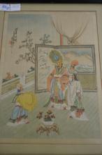 Original Oriental Silk Painting