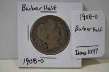 1908-o Barber Half