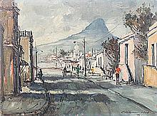 Christiaan St Patrick Nice (South African 1939-) CAPE STREET SCENE WITH DON