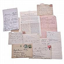 Schreiner, Olive and others VARIOUS INTERESTING DOCUMENTS AND LETTERS ?
