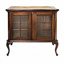 A CAPE STINKWOOD DISPLAY CABINET, LATE 19TH/EARLY 20TH CENTURY the rectangu