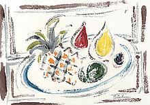 Carl Adolph Büchner (South African 1921-2003) STILL LIFE monotype, signed i