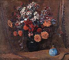Frans David Oerder (South African 1867-1944) STILL LIFE WITH FLOWERS signed