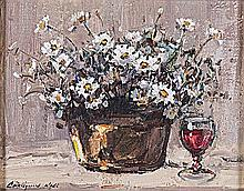 Christiaan St Patrick Nice (South African 1939-) STILL LIFE signed oil on c