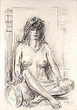 Armando Baldinelli (South African 1908-2002) SEATED WOMAN signed and dated