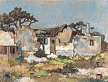 Conrad Nagel Doman Theys (South African 1940-) RUINED COTTAGES signed and d