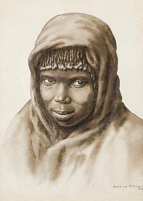 Gerard Bhengu (South African 1910-1990) YOUNG GIRL