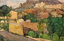 Alfred Frederic Krenz (South African 1899-1980) FINESTRAT signed and dated
