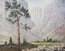George Paul Canitz (South African 1874-1959) EXTENSIVE LANDSCAPE signed oil