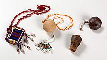 A MISCELLANEOUS COLLECTION OF SNUFF CONTAINERS comprising: 2 Zulu gourd snu