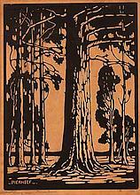 Jacob Hendrik Pierneef (South African 1886-1957) BLOEKOMBOME (NILANT 76) li