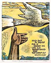 Peter Clarke (South African 1929-2014) HOMAGE TO THE POET LANGSTON HUGHES l