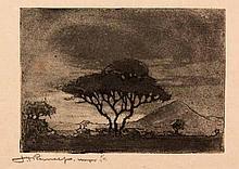 Jacob Hendrik Pierneef (South African 1886-1957) DORINGBOOM etching, signed