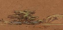 Jacob Hendrik Pierneef (South African 1886-1957) LANDSCAPE signed pastel ov