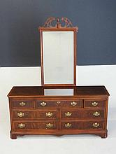 AN AMERICAN MAHOGANY DRESSER MANUFACTURED BY DREXEL, LATE 20TH CENTURY the