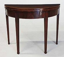 A GEORGE III MAHOGANY CARD TABLE MANUFACTURED BY SIMKIN, COLCHESTER the hin