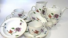 A ROYAL WORCESTER 'ASTLEY' PATTERN PART DINNER, BREAKFAST AND TEA SERVICE,