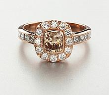 A DIAMOND RING claw set to the centre with an oval rose-cut diamond weighin