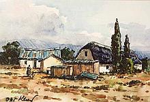 Otto Klar (South African 1908--1994) COTTAGES AND