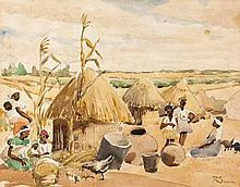 Joyce Ordbrown (South African 1894--1974) RURAL SC