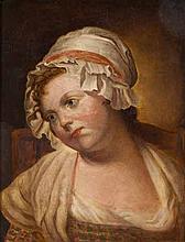 Follower of Jean Baptiste Greuze (* *-) PORTRAIT O
