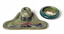A WILLIAM MOORCROFT 'CLAREMONT' PATTERN INKWELL co
