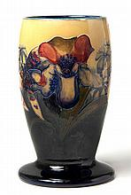 A WILLIAM MOORCROFT 'ORCHID' PATTERN YELLOW GROUND