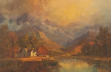Gabriel Cornelis de Jongh (South African 1913-2004) CAPE MOUNTAIN LANDSCAPE